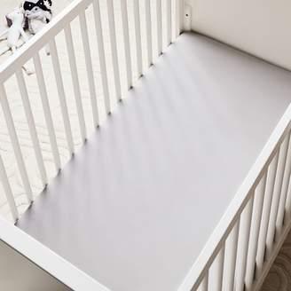 west elm TENCELTM Crib Fitted Sheet - Platinum