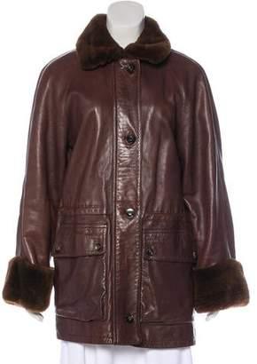 Loro Piana Short Leather Coat