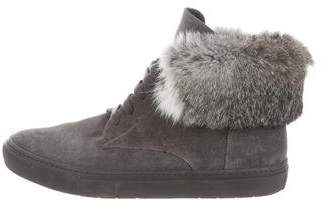 Vince Fur-Trimmed Chukka Sneakers
