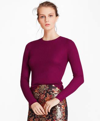 Brooks Brothers Waffle-Knit Silk-Cashmere Sweater
