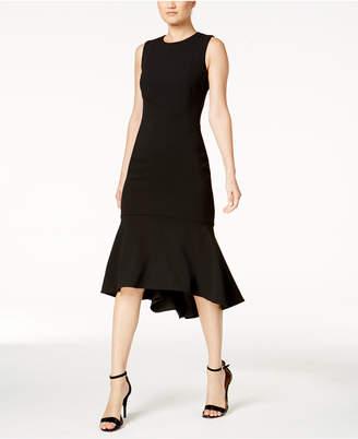 Calvin Klein High-Low Midi Scuba Dress
