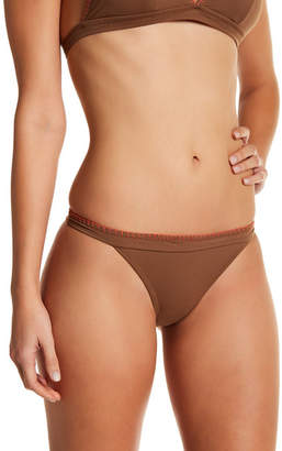 Letarte Contrast Waist Bikini Bottoms