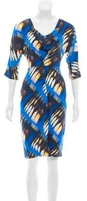Zero Maria Cornejo Printed Silk-Blend Dress