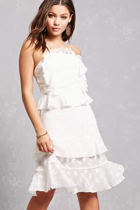 Forever 21 Dark Pink Tiered Ruffle Dress