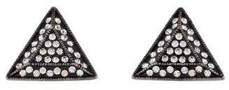 Lulu Frost Crystal Triangle Earrings $95 thestylecure.com
