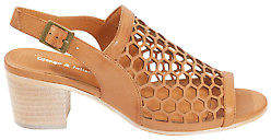 Django & Juliette NEW Womens Heels Bikkis Leather Heel Tan
