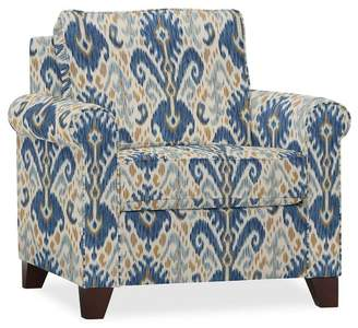 Pottery Barn Cameron Roll Arm Upholstered Armchair - Print and Pattern