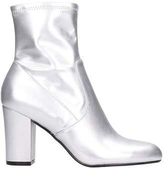 Steve Madden Actual Silver Faux Leather Bootie