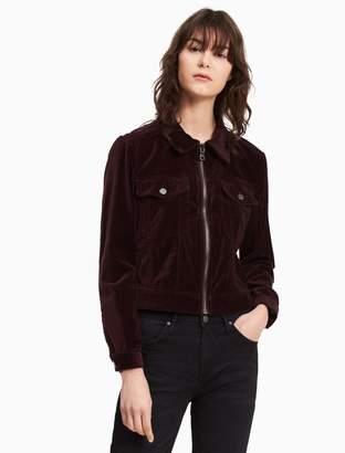 Calvin Klein velvet trucker jacket