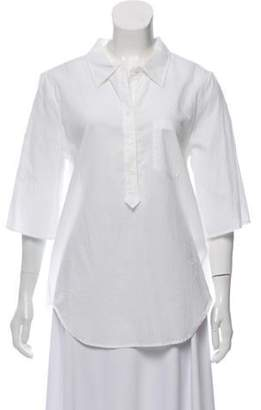 Boy By Band Of Outsiders Short Sleeve Button-Up Top White Short Sleeve Button-Up Top