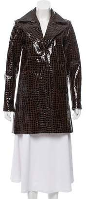 Veda Embossed Patent Leather Coat