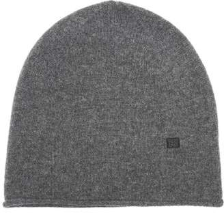 Acne Studios Ribbed Knit Wool Beanie Hat - Womens - Grey