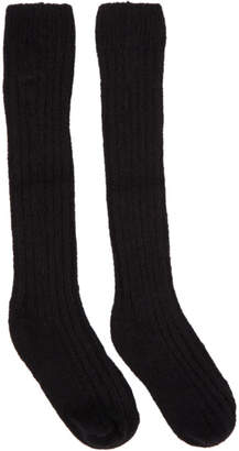 Rick Owens Black Ribbed Socks