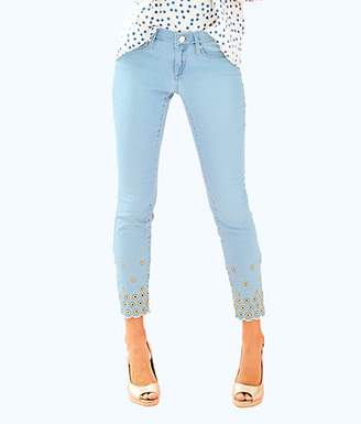 """Lilly Pulitzer 28"""" Washed Indigo South Ocean Skinny Crop Pant"""