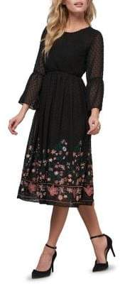 ABS by Allen Schwartz Collection Embroidered Lace Fit Flare Dress