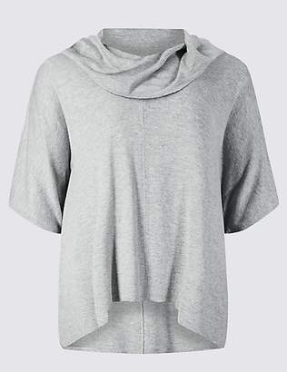 M&S Collection CURVE Cowl Neck 3/4 Sleeve Jumper