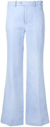 Joseph creased flared trousers