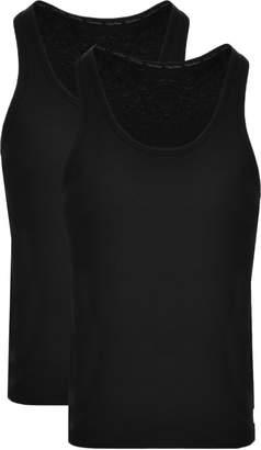 Calvin Klein 2 Pack Vest T Shirts Black