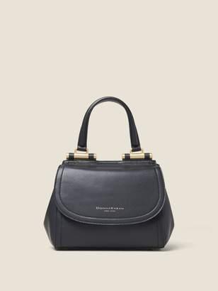 DKNY Smooth Leather Flap Mini Satchel