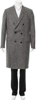 Lanvin Double-Breasted Wool Overcoat w/ Tags