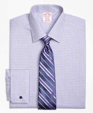 Brooks Brothers Madison Classic-Fit Dress Shirt, Non-Iron French Cuff Double Windowpane