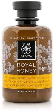 Apivita NEW Royal Honey Creamy Shower Gel With Essential Oils 300ml Womens Skin