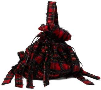 Simone Rocha Lurex wool tartan backpack
