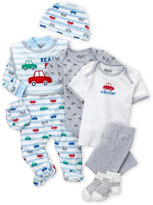 Baby Essentials Cutie Pie (Newborn Boys) 9-Piece Vroom Hanging Gift Set
