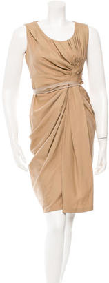 Vera Wang Knot-Accented Sleeveless Dress $155 thestylecure.com