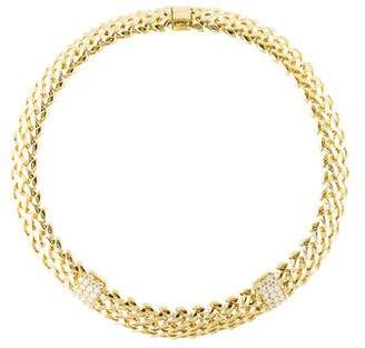 Tiffany & Co. 18K Diamond Vannerie Collar Necklace