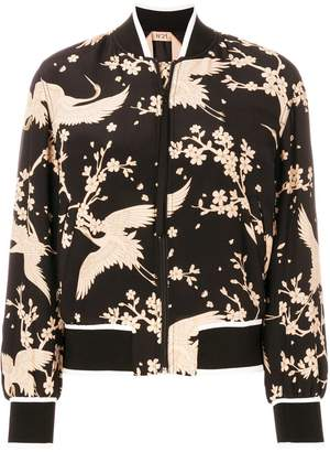 No.21 Japanese print bomber jacket