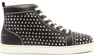 Christian Louboutin - Louis Spike Embellished High Top Trainers - Mens - Black