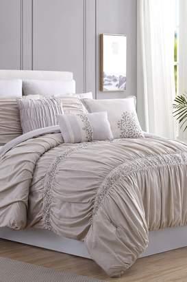 Rialto Amrapur Lace Embellished Queen Comforter - 8 Piece Set