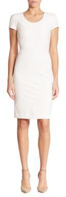 Armani Collezioni Solid Short Sleeve Dress $695 thestylecure.com