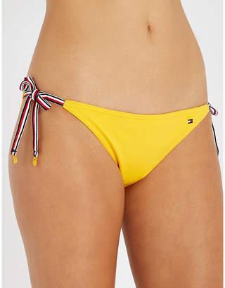 Tommy Hilfiger Logo-embroidered tie-side bikini bottoms
