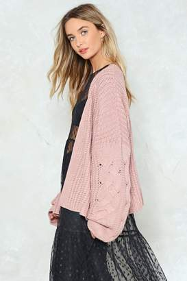 Nasty Gal Watch Knit Oversized Cardigan