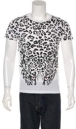 Saint Laurent 2016 Embellished Animal Print T-Shirt