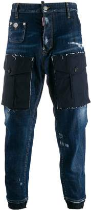 DSQUARED2 cropped tapered jeans
