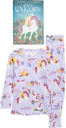 Books to Bed Uni the Unicorn Fitted Two-Piece Pajamas & Book Set