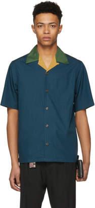 Prada Blue Contrast Bowling Shirt