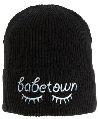 Women's Bp. Embroidered Beanie - Black $19 thestylecure.com