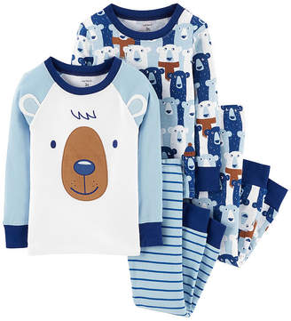Carter's 4pc Bear Pajama Set - Toddler Boy