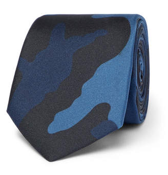 Valentino 6cm Camouflage-Print Silk Tie