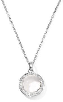 Ippolita Lollipop Diamond Bezel Clear Quartz Pendant Necklace