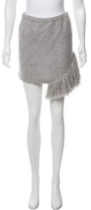 Thakoon Fringe-Trimmed Wool Skirt