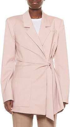 Tibi Cross Dye Wool Wrap Jacket
