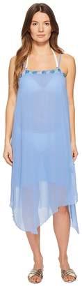 Letarte Embroidered Tank Dress Cover-Up Women's Swimwear