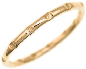 FEATHER+STONE - Gold Bamboo Ring