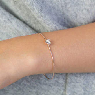 Lovethelinks Circle And Heart Sparkly Dainty Bangle