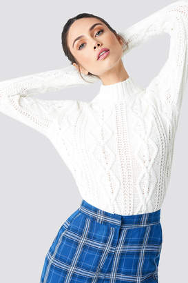 NA-KD Na Kd Cable Knitted Sweater Offwhite